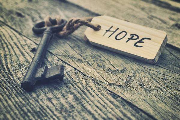 Never give up on HOPE. (Orla/Shutterstock)